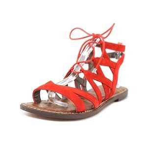 Sam Edelman Gemma Suede Red Sandals